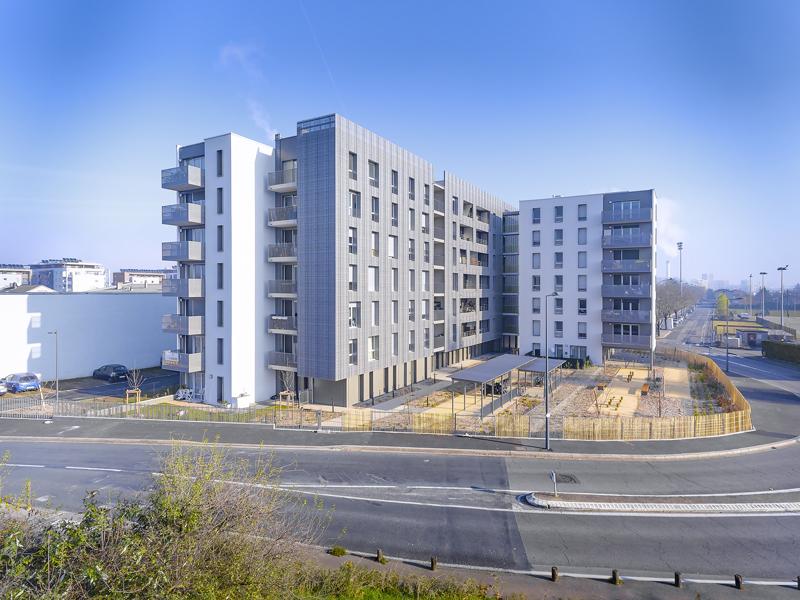 Résidence Cap Canal - Villeurbanne Architecte : Rue Royale Architectes
